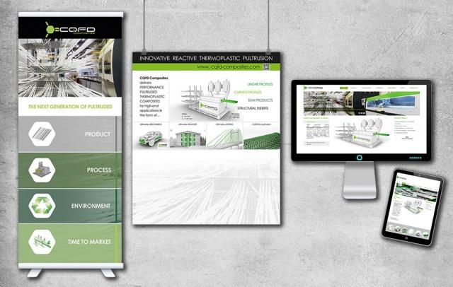 Kakemonos, affiches et site internet responsive pour CQFD