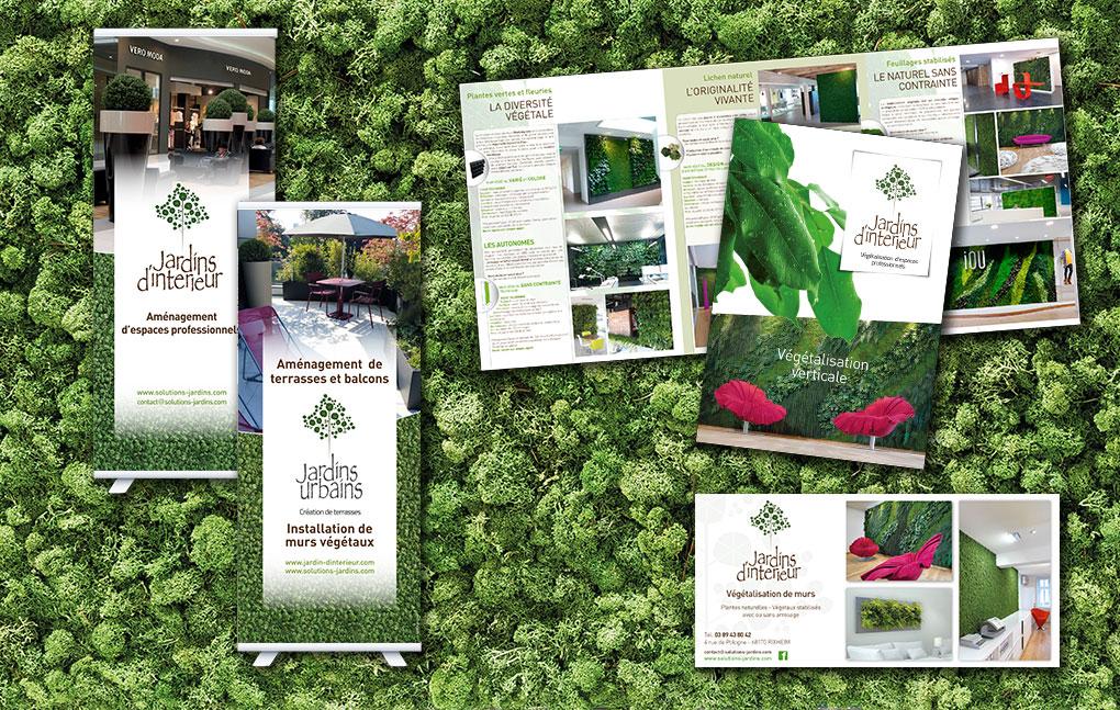 Catalogues, flyers et kakemonos pour Jardins d'Intérieur