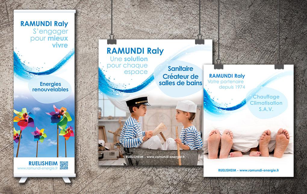 Déclinaison d'affiches et de kakemono pour Ramundi